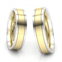 Obrączki z żółtego i białego złota - P50150T175zb