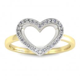 Pierścionek zaręczynowy z diamentami - P15352zb