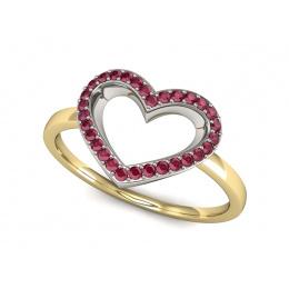 Pierścionek zaręczynowy z rubinem złoto 585 - P15352zbr