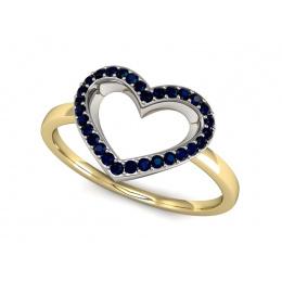 Pierścionek zaręczynowy z szafirami - P15352zbsz