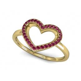 Pierścionek zaręczynowy z rubinami - P15352zr