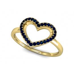 Pierścionek zaręczynowy z szafirem - P15352zsz