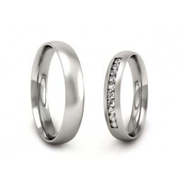 Ślubne obrączki platyna z brylantami - P3540150T168pt