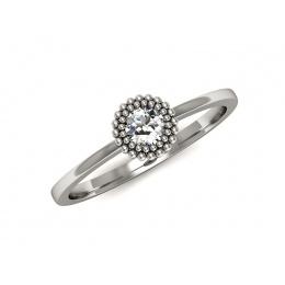 Pierścionek zaręczynowy, platyna, brylant - p16166pt