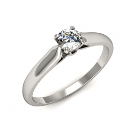 Pierścionek platyna pierścionek z brylantem - p16342pt
