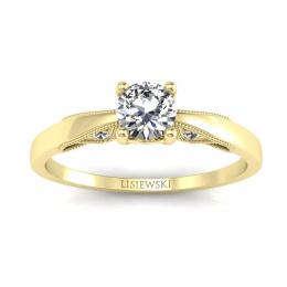 Pierścionek zaręczynowy z brylantami  - p16435z