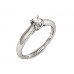 Pierścionek platyna pierścionek z brylantami - p16442pt
