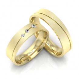 Obrączki z brylantami żółte złoto - P50150T188zms