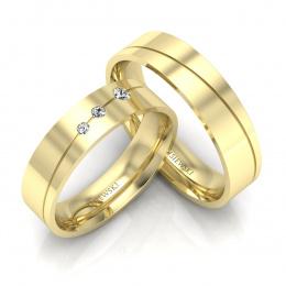 Złote obrączki z brylantami - P50150T188z