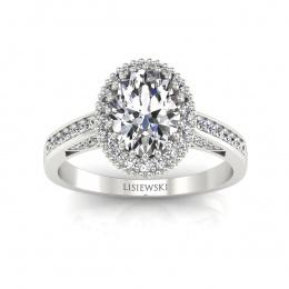 Pierścionek z białego złota z diamentami. - p16595b