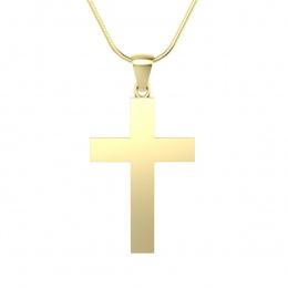 Krzyżyk z żółtego złota. - W15581z