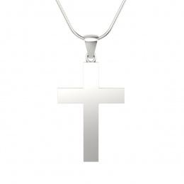 Krzyżyk z białego złota - W15581b