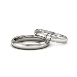 Ślubne obrączki platyna brylant - s35205502pt