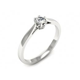 Platyna pierścionek z brylantem - p16708pt