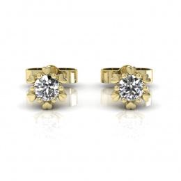 Złote Kolczyki z brylantami żółte złoto - k16781z