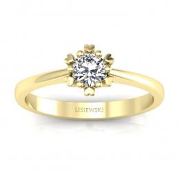 Złoty pierścionek zaręczynowy - p16782z