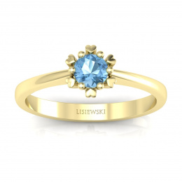 Zloty pierścionek z topazem - p16782ztp