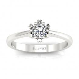 Złoty pierścionek zaręczynowy z diamentem - p16782b