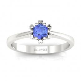 Złoty pierścionek z tanzanitem - p16782bt