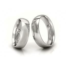 Ślubne obrączki z platyny z brylantami - P55170T77pt