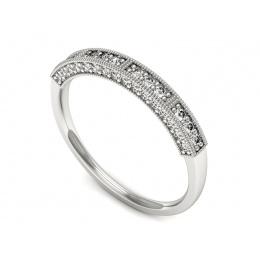 Platynowy pierścionek platyna z brylantami - p16625pt