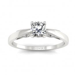 Pierścionek zaręczynowy z brylantami białe złoto - p16435b