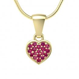 Złoty wisiorek z rubinami - w16018zr