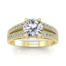 Pierścionek zaręczynowy z brylantami - p16027z