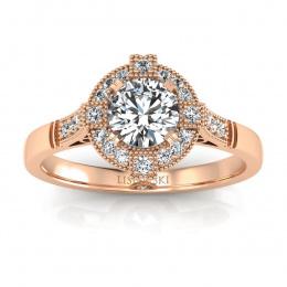 Pierścionek zaręczynowy z brylantami  - p15098c