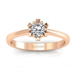 Złoty pierścionek z brylantem - p16782c