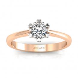 Złoty pierścionek z brylantem - p16782cb