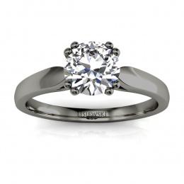 Pierścionek zaręczynowy z diamentem czarne złoto - p15259cz
