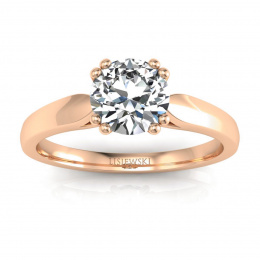 Zloty pierścionek z diamentami - p15259c