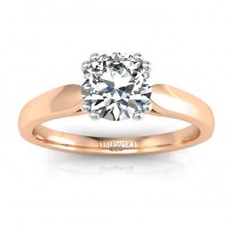 Złoty pierścionek zaręczynowy z diamentami - p15259cb