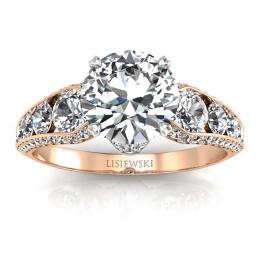 Złoty pierścionek z brylantami - p15280cb