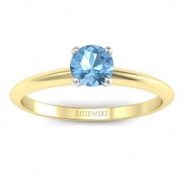 Zaręczynowy pierścionek z topazem - p16365zbtp