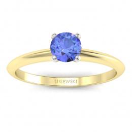Zaręczynowy pierścionek z tanzanitem - p16365zbt