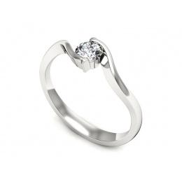 Pierścionek zaręczynowy z platyny, brylant - pt20013_VS_G