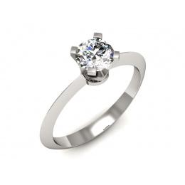 Zaręczynowy pierścionek, platyna, diament - pt20026br_VS_G