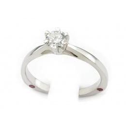 Pierścionek z platyny, brylant, rubiny - ptjg1133br_VVs_G