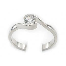 Pierścionek z platyny z brylantem - pt542bbr_VS_G